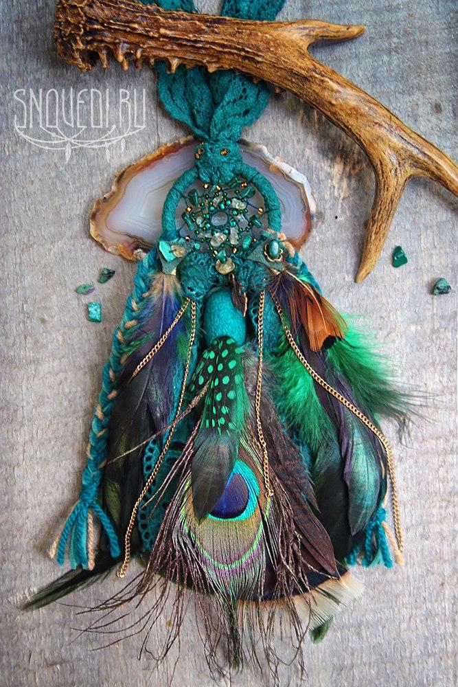 Кулон ловец снов Emerald Potion