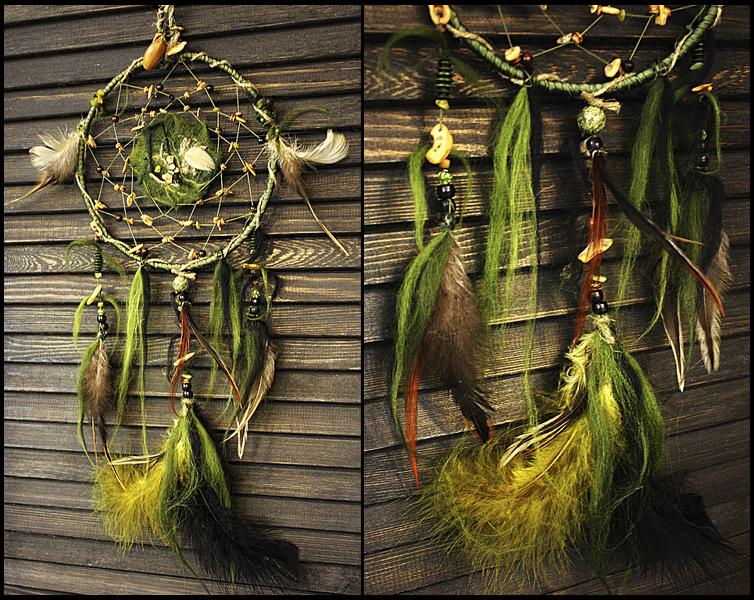 Ловец снов Таинственный лес с пренитом,змеевиком и деревом фото