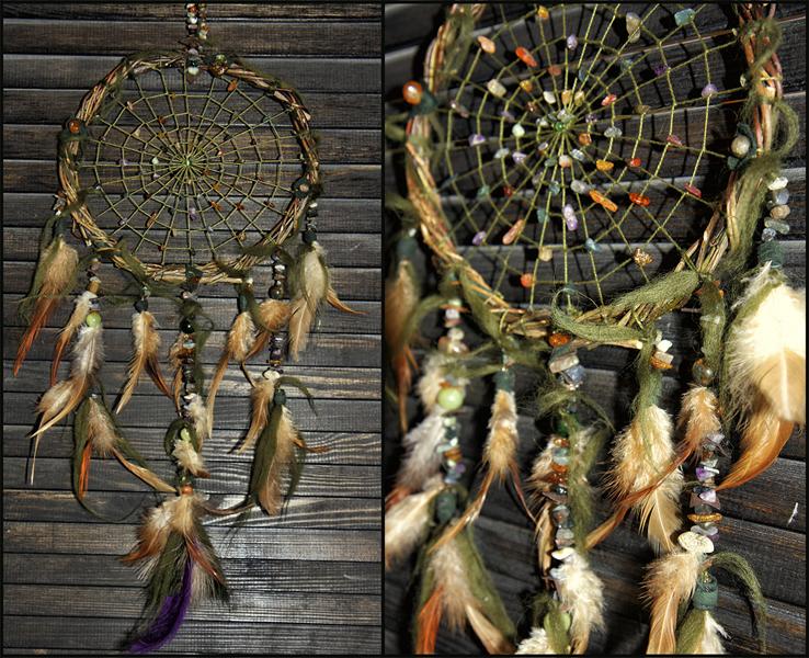 Ловец снов Shaman amulet с натуральными камнями